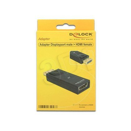 DELOCK ADAPTER DISPLAYPORT(M) - HDMI(F)