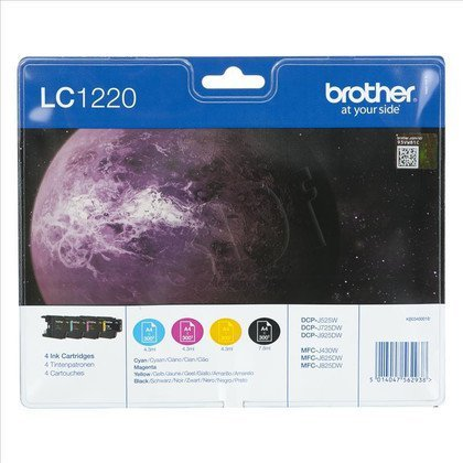 BROTHER Tusz LC1220VALBP=LC-1220VALBP, Zestaw CMYBk, LC1220C+LC1220M+LC1220Y+LC1220BK