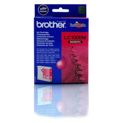 BROTHER Tusz Czerwony LC1000M=LC-1000M, 400 str.