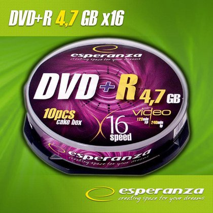 DVD+R Esperanza 4.7GB 16xSpeed (Cake 10szt)