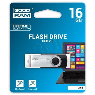 Goodram Flashdrive Twister 16GB USB 2.0 czarny