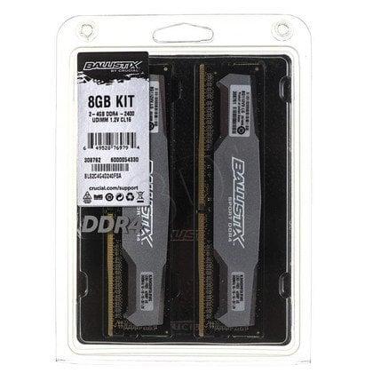Crucial Ballistix DDR4 UDIMM 8GB 2400MT/s (2x4GB) BLS2C4G4D240FSA