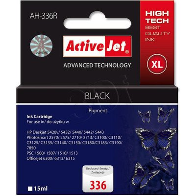 ActiveJet AH-336R (AH-362) tusz czarny do drukarki HP (zamiennik HP 336 C9362EE)