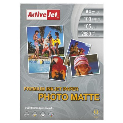 ActiveJet papier fotograficzny matowy AP4-105M100