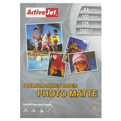 ActiveJet papier fotograficzny matowy AP4-125M100