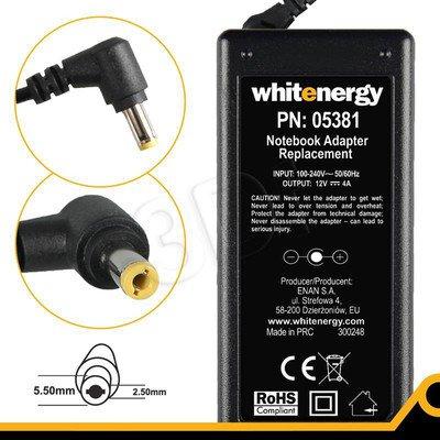 WHITENERGY ZASILACZ 12V/4A wtyk 5.5 x 2.5
