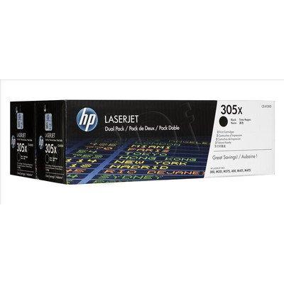 HP Toner Czarny HP305Xx2=CE410XD, Zestaw 2xBk, 2xCE410X