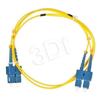 ALANTEC patchcord światłowodowy SM LSOH 1m SC-SC duplex 9/125 żółty