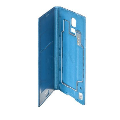 SAMSUNG ETUI FLIP WALLET DO S5 ELECTRIC BLUE