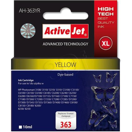 ActiveJet AH-363YR (AH-773) tusz yellow do drukarki HP (zamiennik HP 363 C8773EE)