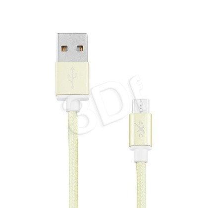 EXC UNIWERSALNY KABEL USB-MICRO USB, GLOSSY, 1.5 METRA, ZIELONY