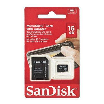 Sandisk micro SDHC SDSDQB-016G-B35 16GB Class 4 + ADAPTER microSD-SD
