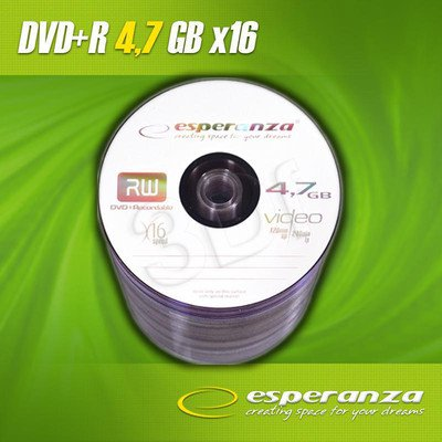 DVD+R Esperanza 4.7GB 16xSpeed (Szpindel 100szt)