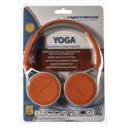 Słuchawki nauszne z mikrofonem Esperanza YOGA (Pomarańczowy Bluetooth)