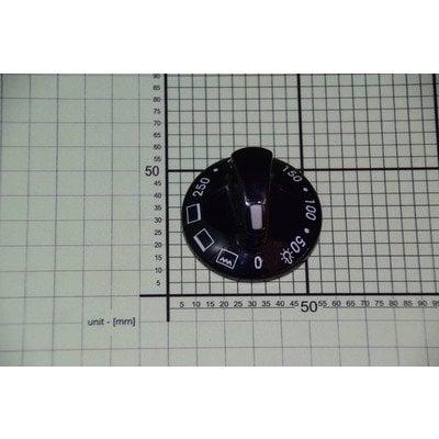 Pokrętło czarne do temperatury + 3 funkcje piekarnika E610.00/09.2973.01 (8011294)