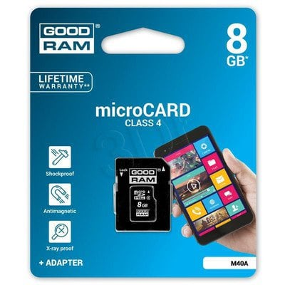 Goodram micro SDHC 8GB Class 4 +adapter