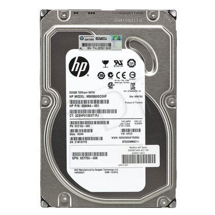 HP 500GB 6G SATA 7.2K rpm LFF (3.5-inch) Non-hot plug Midline 1yr Warranty Hard Drive (Gen 8)