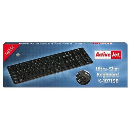 ActiveJet KLAWIATURA K-1071SB Ultra-Slim CZARNA