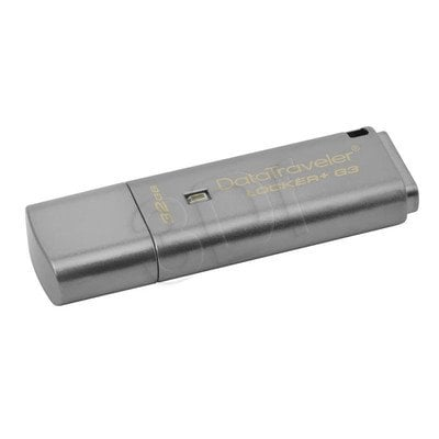 Kingston Flashdrive DataTraveler Locker+ G3 32GB USB 3.0 Srebrny