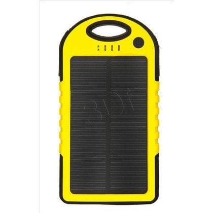 PowerNeed Ładowarka solarna S5000Y 5000mAh USB żółta