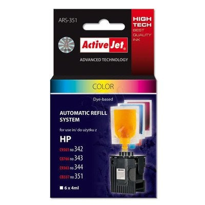 ActiveJet Automatic Refill System HP 342/343/344/351 Col 6x4ml ARS-351
