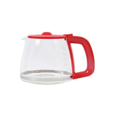 Czerwony szklany dzbanek do ekspresu do kawy (4055208542)