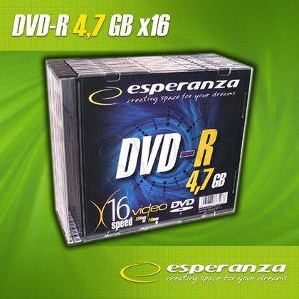 DVD-R Esperanza 4.7GB 16xSpeed (Slim 10szt)
