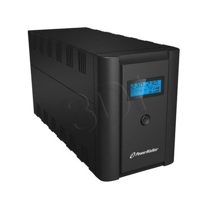 POWER WALKER UPS LINE-INTERACTIVE 2200VA 2X 230V PL + 2X IEC OUT, RJ11/RJ45 IN/OUT, USB, LCD