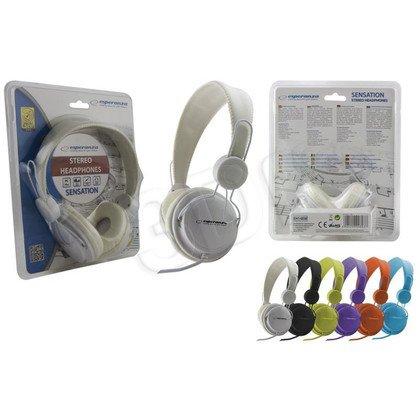 Słuchawki nauszne z mikrofonem Esperanza SENSATION (Biały)