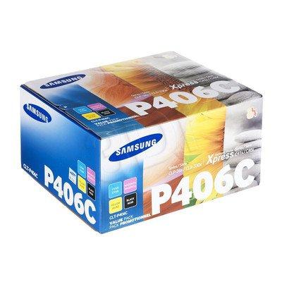 SAMSUNG Toner CLTP406C=CLT-P406C, Zestaw CMYK CLT-C406S+CLT-M406S+CLT-Y406S+CLT-K406S