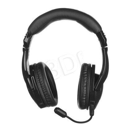 Słuchawki wokółuszne z mikrofonem OZONE ONDA PRO (Czarny)