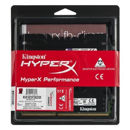 KINGSTON HyperX DDR3 2x4GB 1600MHz KHX16C9T3K2/8X