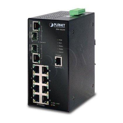 PLANET ISW-1022MT Zarządzany Switch Przemysłowy /Temperatura Pracy -40~75 stopni /