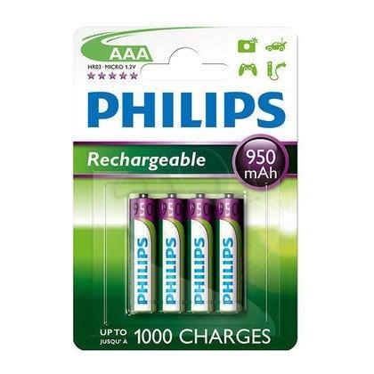 Akumulator Philips R03B4A95/10AAA 950mAh (4 szt.; poj. 950mAh)