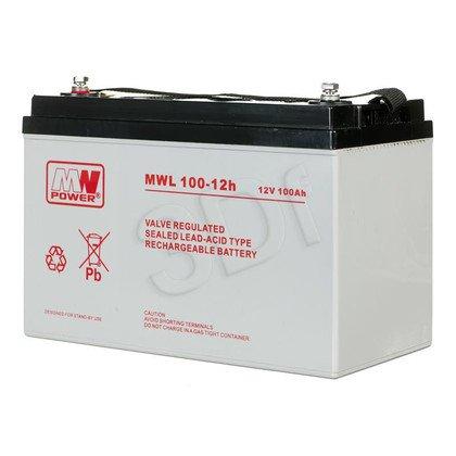 Akumulatory MWL 100-12h; 12V; 100Ah; M8; żywotność 10-12 lat