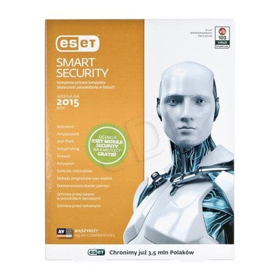 ESET SMART SECURITY BOX-1 STAN/12M + ESET Mobile Security 6M PROMO