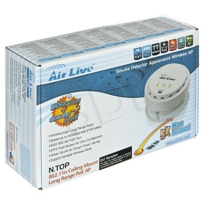 OVISLINK AirLive [N.TOP] Access Point Sufitowy [PoE 802.3af] [802.11b/g/n - 300Mbps] [27dBm] [High Power]