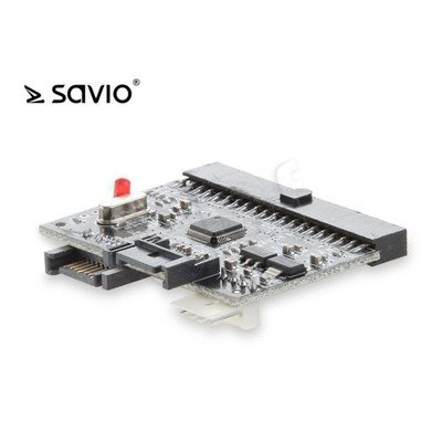 SAVIO ADAPTER SATA/IDE - IDE/SATA PATA 40PIN ŻEŃSKA; SATA 7PIN ŻEŃSKA AK-04
