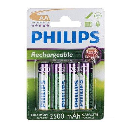 Akumulator Philips R6B4RTU25/10 AA 2500mAh 4 szt.