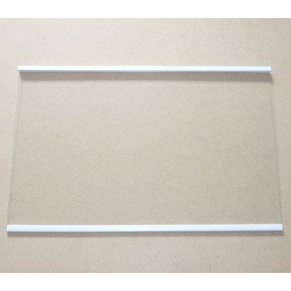 Półki na plastikowe i druciane r Półka szklana środkowa chłodziarki z ramkami Whirlpool (480132101133)