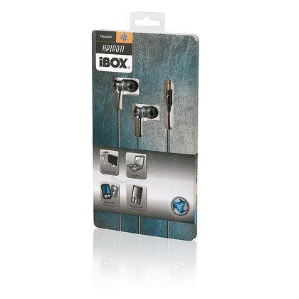 SŁUCHAWKI DOUSZNE KANAŁOWE I-BOX HPI P011 BLACK