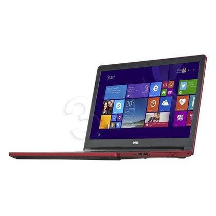 """DELL Inspiron 5558 i3-5005U 4GB 15,6"""" HD 1000GB HD5500 GT920M BSY Czerwony (5558-8552) 2Y NBD"""