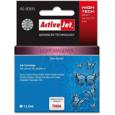ActiveJet AE-806N (AE-806) tusz light magenta pasuje do drukarki Epson (zamiennik T0806)