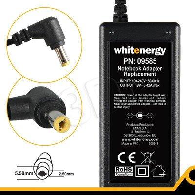 WHITENERGY ZASILACZ 19V/3.42A 65W WTYCZKA 5.5X2.5MM