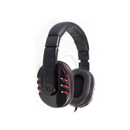 Słuchawki nauszne z mikrofonem Natec GENESIS H11 (Czarno-czerwony)