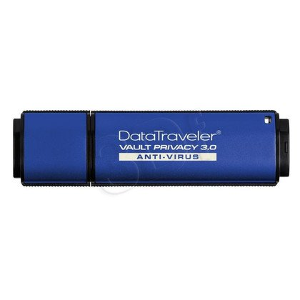 Kingston Flashdrive DataTraveler Vault Privacy 3.0 Anti-Virus 4GB USB 3.0 Niebieski