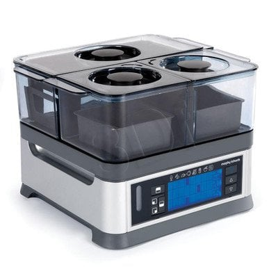 Parowar MorphyRichards 48780 Intellisteam (1600W/ stalowy/ 8,2l)