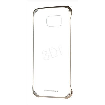 SAMSUNG CLEAR COVER DO GALAXY S6 ZŁOTE