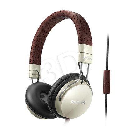 Słuchawki nauszne z mikrofonem Philips SHL5505YB/00 (Żółto-brązowe)