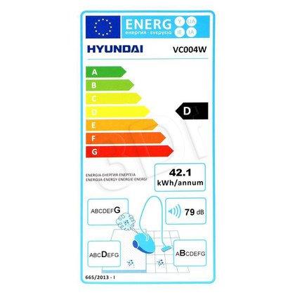 Odkurzacz Hyundai VC 004 W (z workiem 1200W biało-szary)